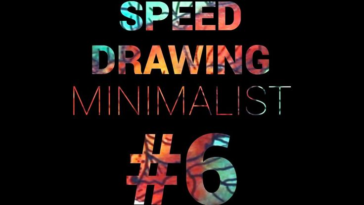 SPEED DRAWING Minimalist landscape #6 —  Flowers - YouTube