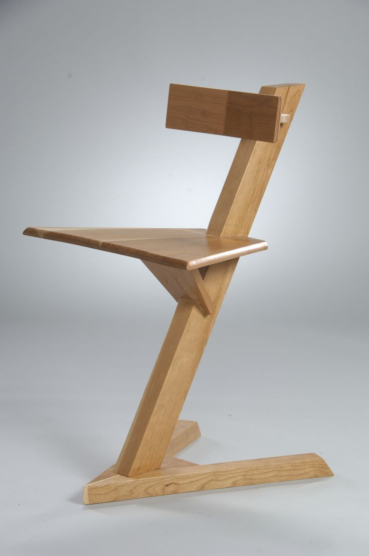Tri-port. Minimal material chair built from cherry with maple wood accent. #Cherry #Maple #Tri-port #chair #Design