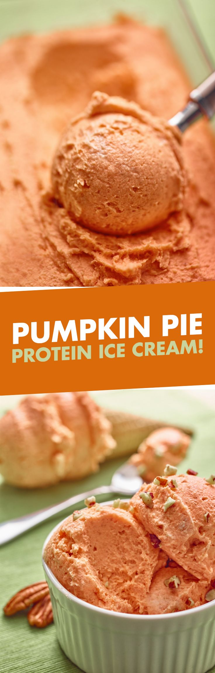 5 words: Pumpkin Pie Protein Ice Cream. 10g of protein and super EASY to make!