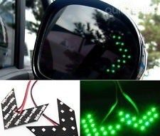 2PCS 14-SMD GREEN LED Arrow Panels For Car Side Mirror Turn Signal Indicator Light a pair  by mrgadjet - $13.99