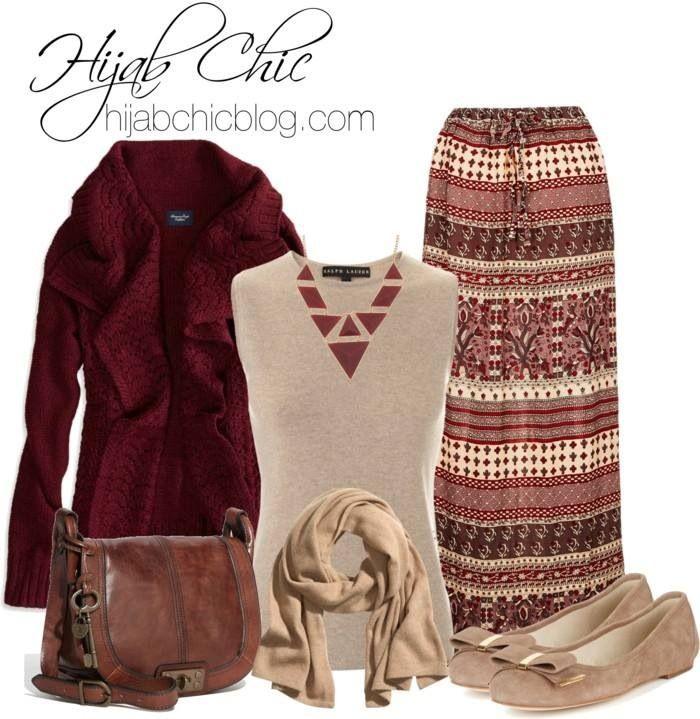 Maxi skirt styles