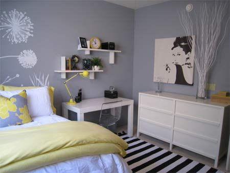 Ideas For Nat   Bedrooms   Benjamin Moore   Pigeon Gray   Target  DwellStudio Peony Pillow West Elm Parsons Desk Ikea Tobias Chair Ikea  Trondheim Dresser ...