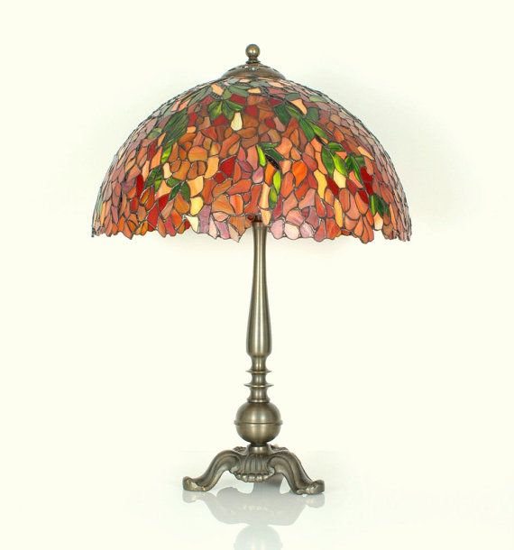 "15.5"" Stained Glass Table Lamp - Tiffany lamp. Stained glass lamp. Stained glass lamp. Tiffany table lamps. Stained glass lamp."