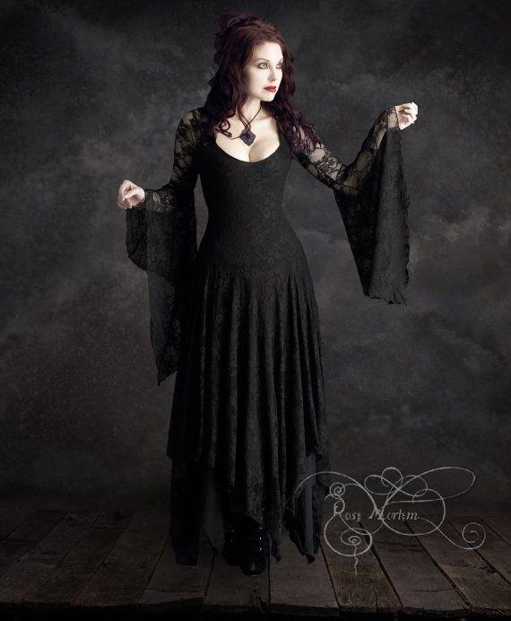 Abiti abito corsetto Gothic Romantic Annaleah - costume fatto su misura da Rose Mortem - Couture romantico scuro e fiaba