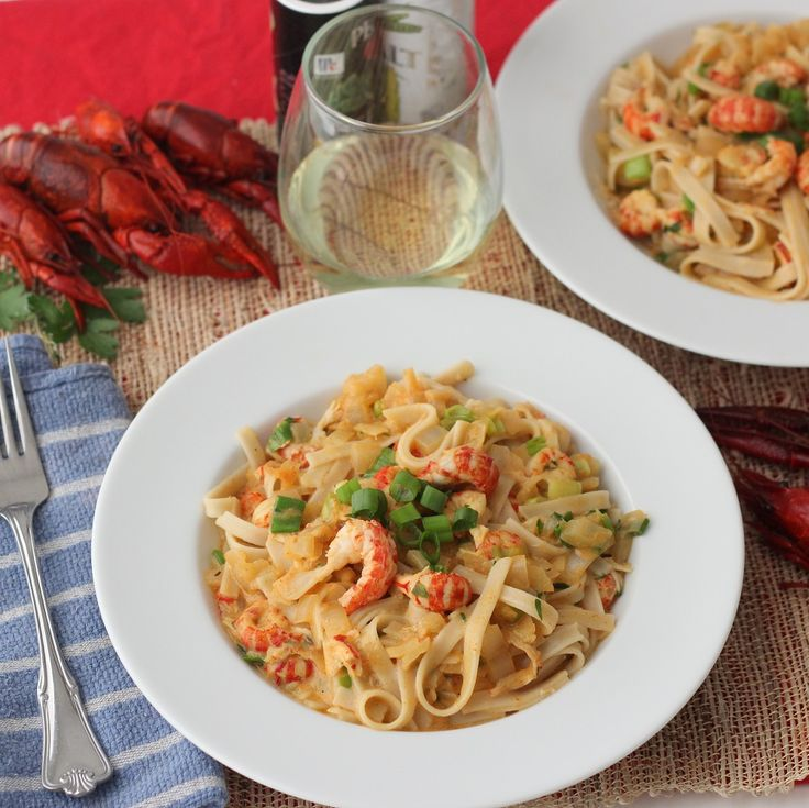 Celebrate Jazz Fest and crawfish season with this creamy, saucy, crawfish sauce served over pasta After yesterday's glorious use of leftover crawfish for a Crawfish Bisque recipe, I decided I…