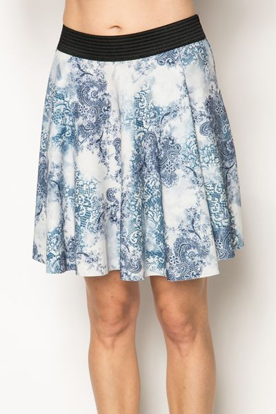 Printed Skater Skirt @ Everything5pounds.com