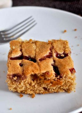 Peanut Butter and Jelly Snack Cake | food | Pinterest
