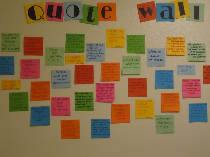 Provide your residents with sticky notes, and have them post their favorite quotes. -Miranda D.