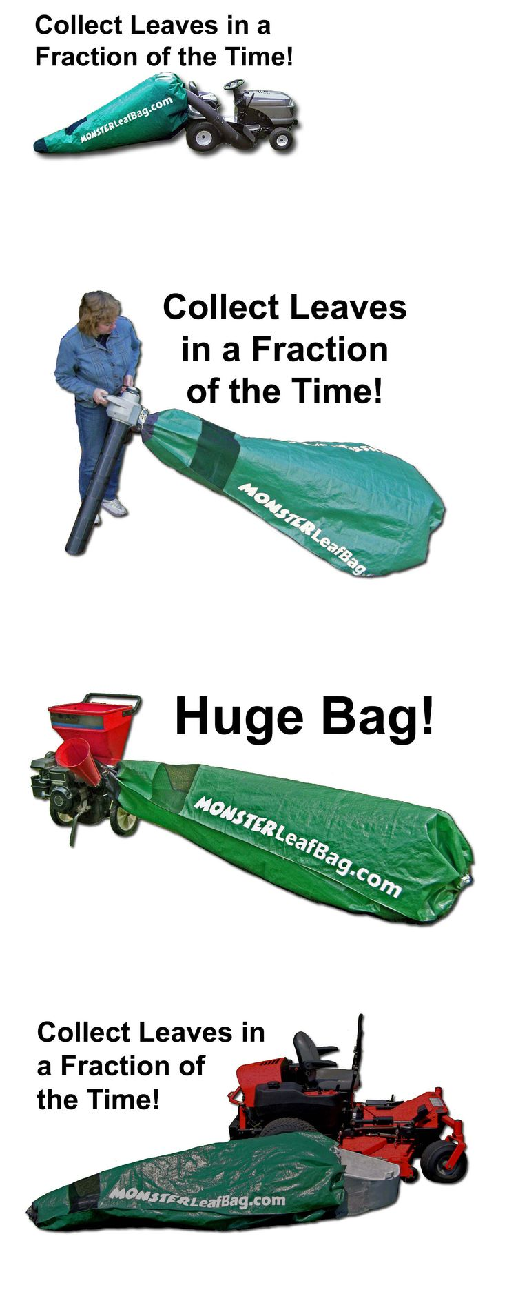 Riding Mowers 177021: Bolens Lawntractor Bagger, Huge Riding Mower Bag, Fast, Easy, Monster Leaf Bag -> BUY IT NOW ONLY: $59.99 on eBay!