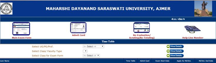 MDS University BCOM 1st, 2nd & Final Year Time Table 2016 - Uniraj Result 2016 -University Result Date