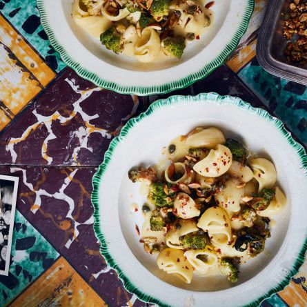 Pasta with Roasted Romanesco and Capers Recipe