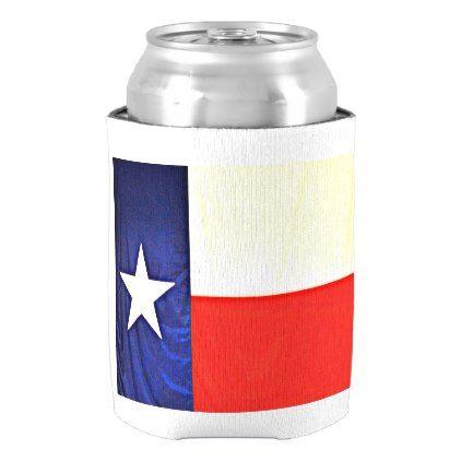 Texas Flag Can Cooler - home decor design art diy cyo custom