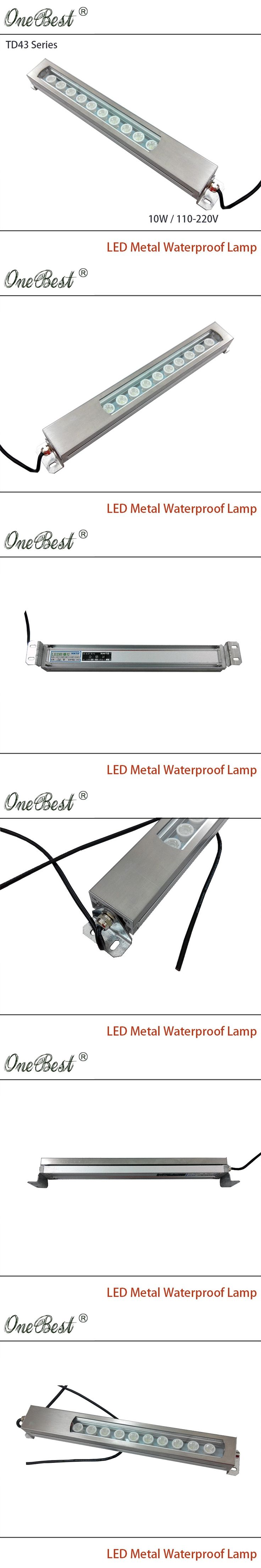 HNTD 10W 110-220V TD43 Led Metal Panel Light CNC Machine Tool Waterproof Explosion-proof Led Spotlight work light Free shipping