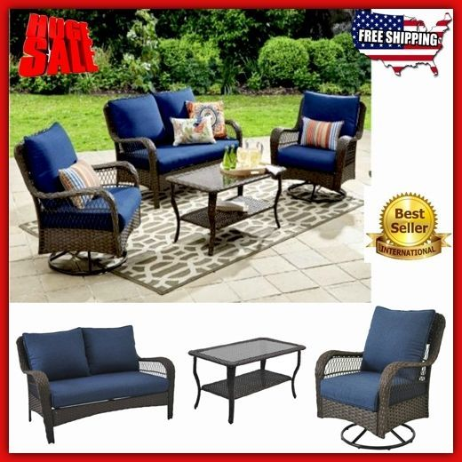Patio Furniture Clearance Set Wicker Outdoor Swivel Chair Loveseat Sofa Modern And