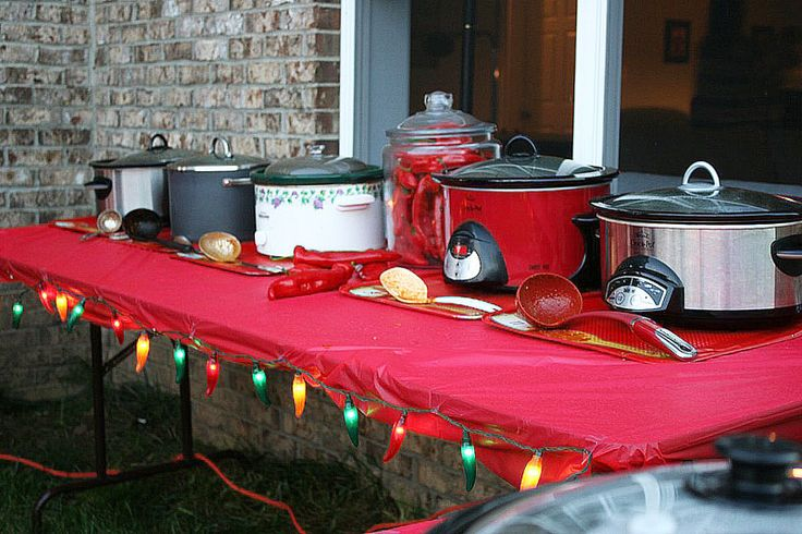 Chili cook-off. Tips tricks and prize ideas.