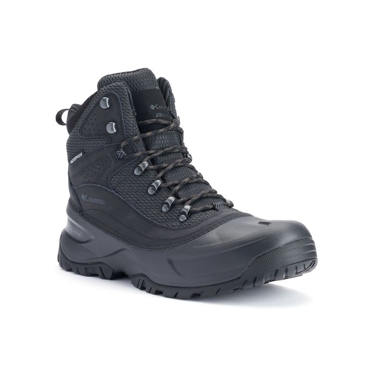 Columbia Snowcross Mid Thermal Coil Men's Waterproof Winter Boots, Size: 12 Wide, Grey (Charcoal)