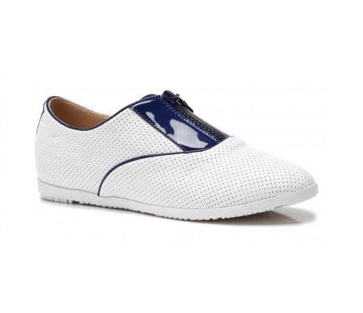 LADIES SPORT FLAT CLEATED WHITE SLIP ON ZIP TRAINERS SNEAKERS PUMPS SIZE 3-7.5