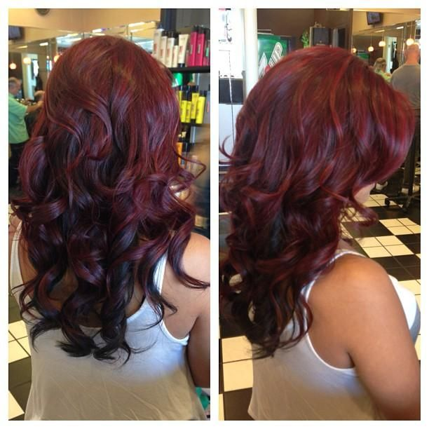 Dark Burgundy - Hairstyles and Beauty Tips I'll probably do this, but long after the wedding's over