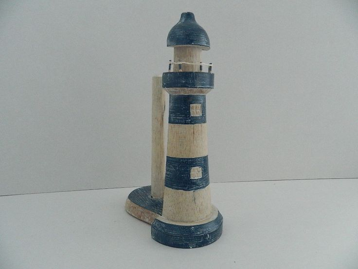 WOODEN FAIRTRADE LIGHTHOUSE TOILET/KITCHEN ROLL HOLDER SHABBY CHIC in Home, Furniture & DIY, Bath, Toilet Roll Holders | eBay