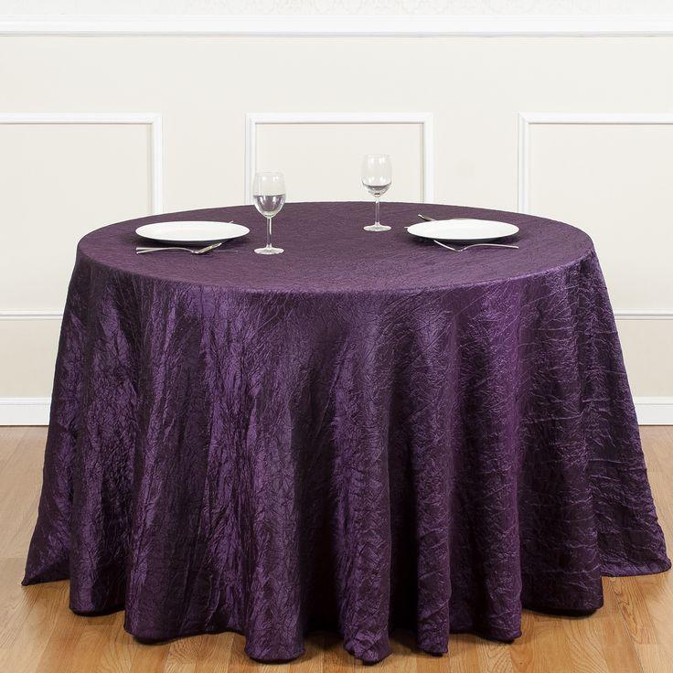 Round Crinkle Taffeta Tablecloth Eggplant | Wedding Ideas | Pinterest |  Wedding Linens, Wedding Stuff And Wedding