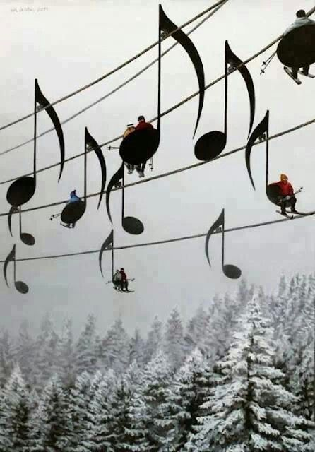 """""""La musique creuse le ciel"""" C.Baudelaire."""