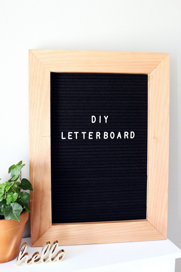 Create your own vintage felt letter board with this easy DIY tutorial.