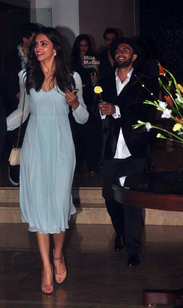 How adorable is Ranveer Singh chasing after Deepika Padukone with a flower! #deepveer #otp