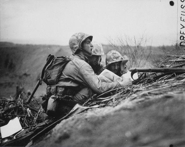 Observer On Iwo Jima, February, 1945