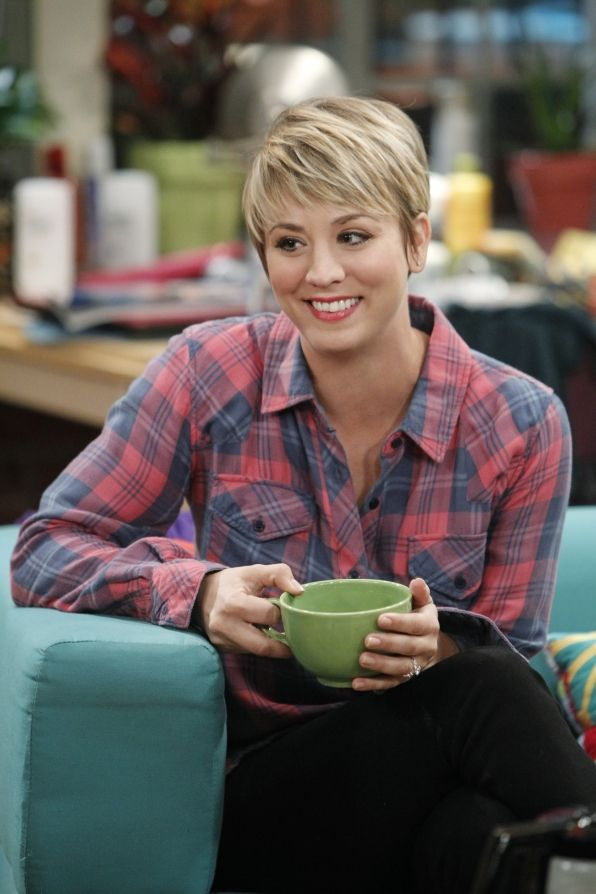 Penny looks so cute with her pixie cut.
