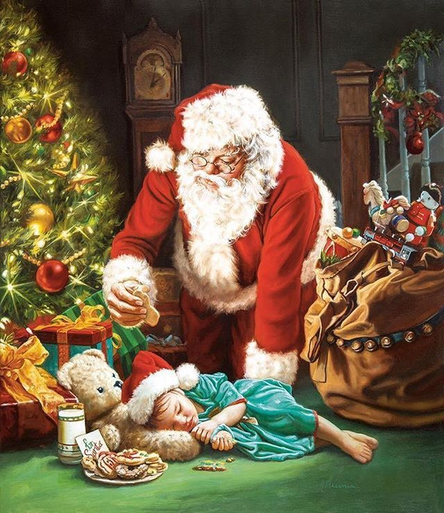 рождественские картинки санта решение