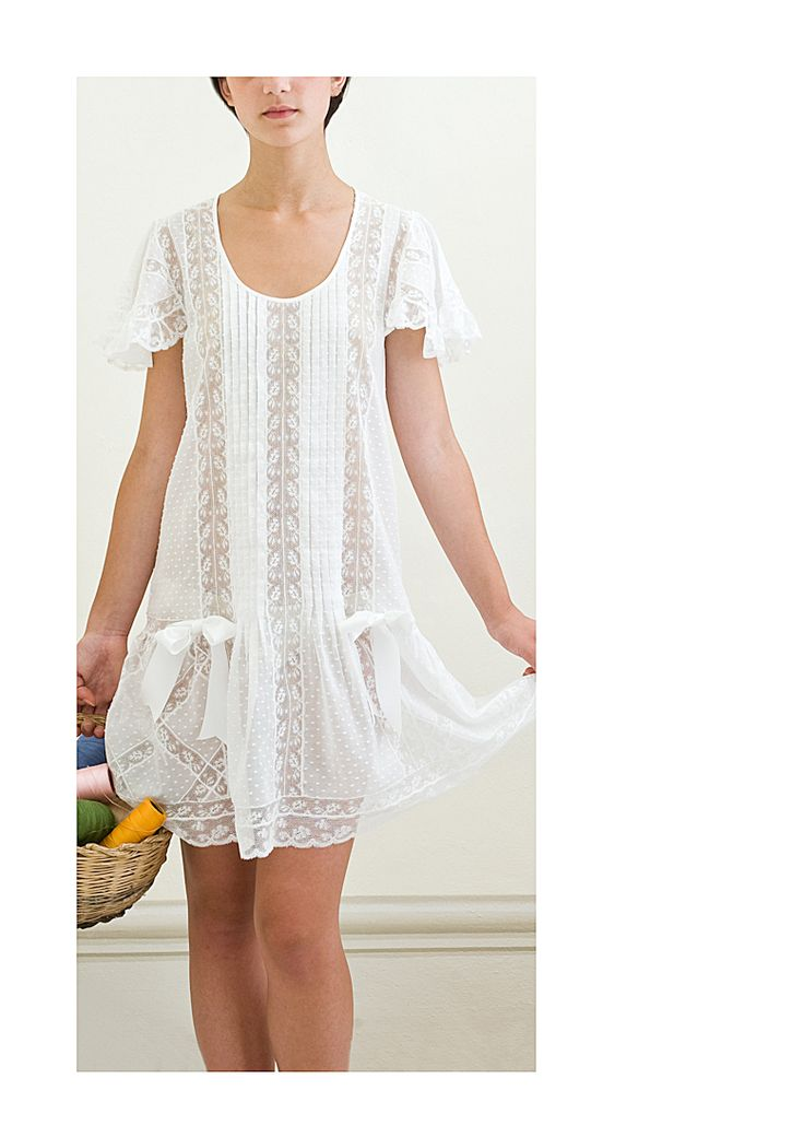 Precious Night gown or summer dress han made available at www.graziagiachi.it