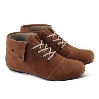Sepatu Boot Casual Sneakers Wanita V210 - Coklat - elevenia