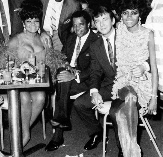 Anna Gordy, Berry Gordy, Bobby Darin and Diana Ross.