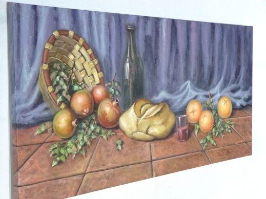 Cuadro Cesta Pan y Frutas [04-015] | www.olyarte.com