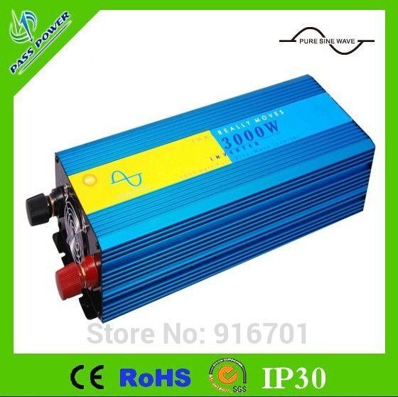 3000w Peak 6000w inverter,DC12V 24V 48V TO AC230V Pure sine wave power inverter Specification: