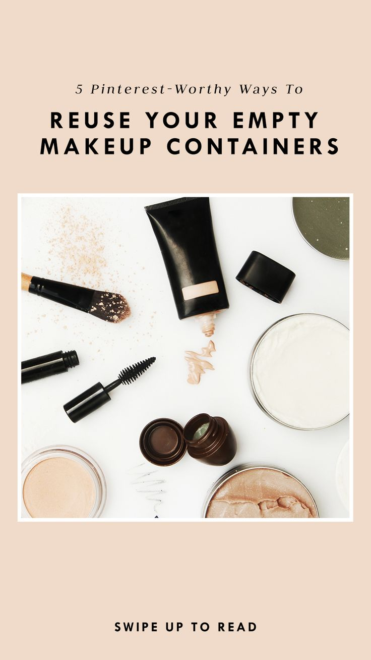 Wondering how to upcycle your used makeup containers? Check out these five Pinterest-worthy ways to do so. #partner