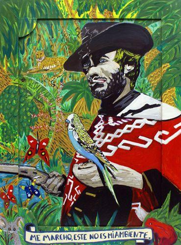 """Agustí Garcia,  Bad Painting,  EL BUENO, EL MALO Y JOHN WAYNE """"Me marcho, este no es mi ambiente"""""""