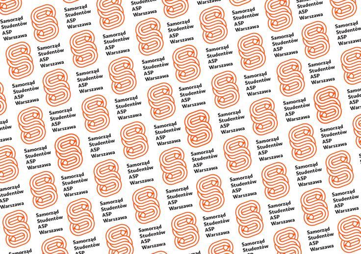 Projekt identyfikacji dla Samorządu Studentów ASP Warszawa. Design Igor Kubik