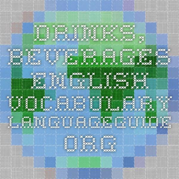 Drinks, Beverages - English Vocabulary - IWB activity.