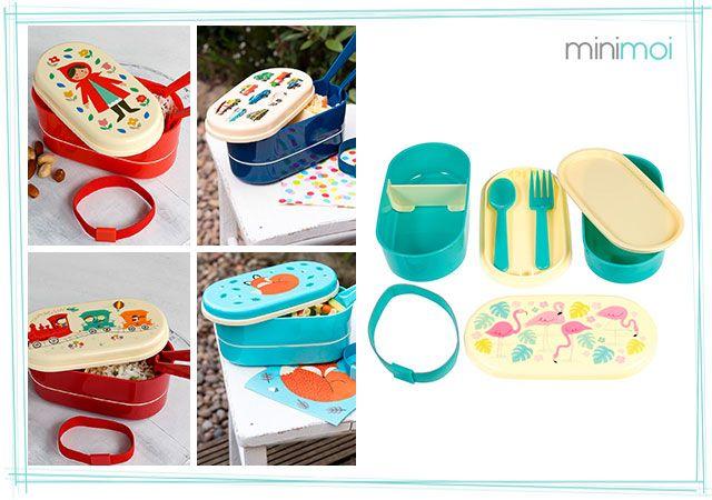 Fiambrera para niños dos pisos tipo Bento - Minimoi