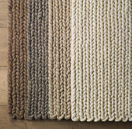 Neutral knit rugs - prettiness