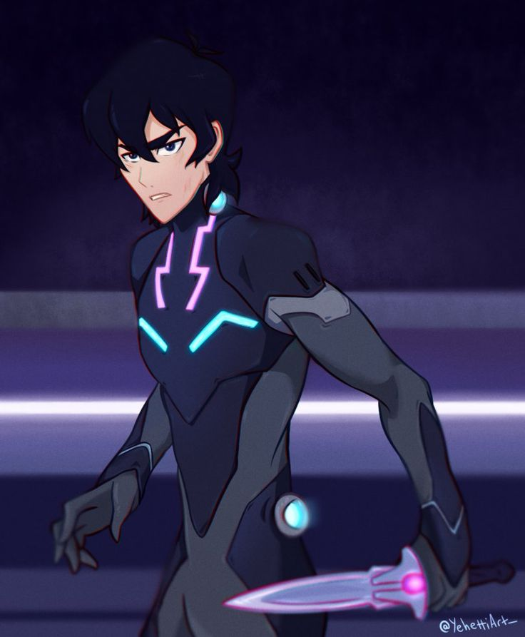 Keith in his Galra armor with his knife blade from Voltron Legendary Defender