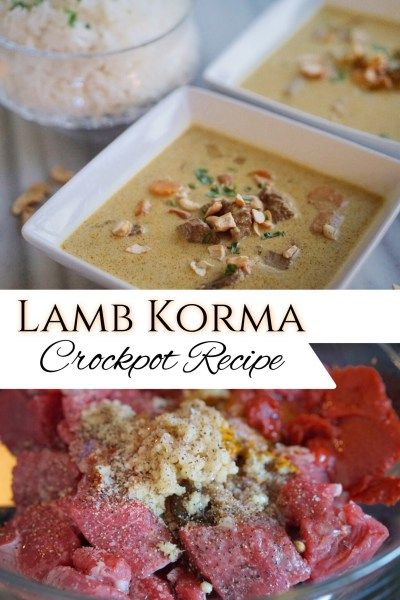 If you love Indian Food then you will love this traditional and authentic Lamb Korma crackpot recipe. You can also use chicken or make it vegetarian!