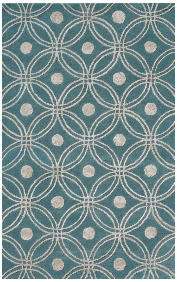 Amber Collection 702 Light Blue/Silver Area Rug -