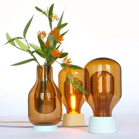 Glass lamps and vases, which have double walls like a Thermos flask.