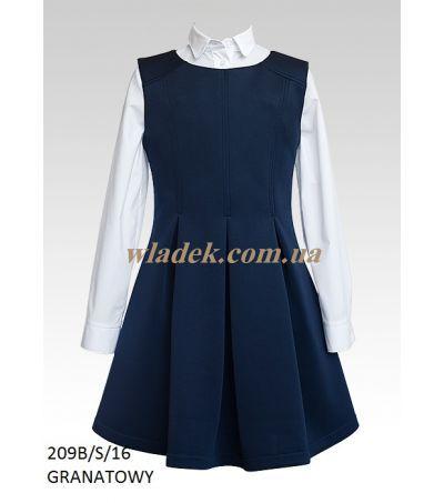 Школьная форма Sly   Школьный синий сарафан Sly 209B/S   Школьные блузки для девочек   Школьная форма Sly в интернет-магазине wladek.com.ua