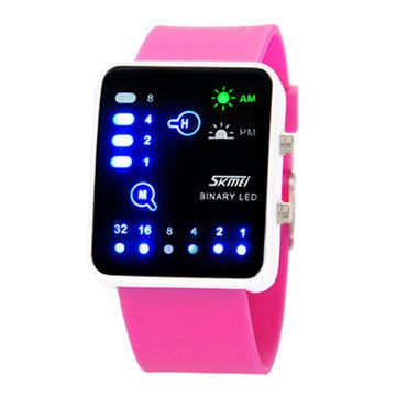 SKMEI Original Men Women LED Candy Color Jelly Digital Wristwatch at Banggood