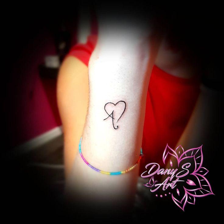 #minitattoo #smalltattoo #a #hearttattoo #initialtattoo