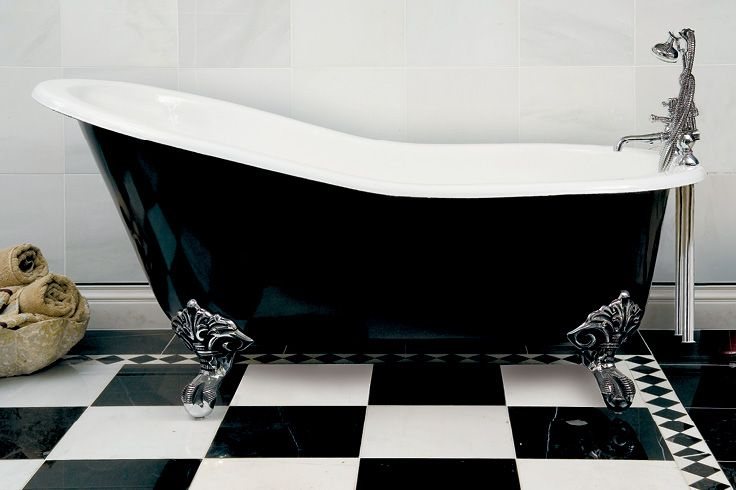 Single End Cast Iron Slipper Bath with Feet | Also avail. in other colours | Buy at Schots in Melbourne & Geelong, Australia