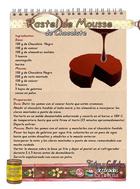 Tartas, Galletas Decoradas y Cupcakes: Pastel de Mousse de Chocolate